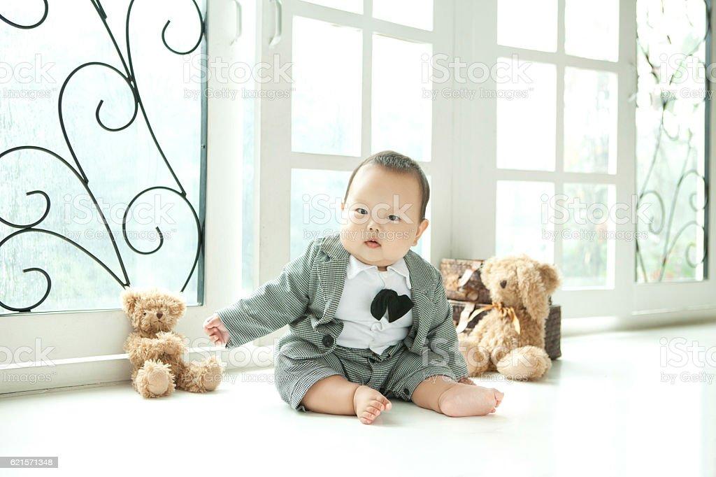 overweight suit tie baby photo libre de droits