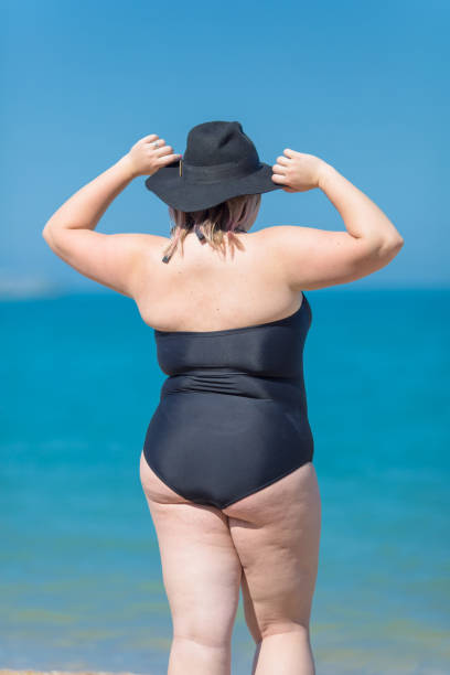 in suits Pictures fat of women bathing
