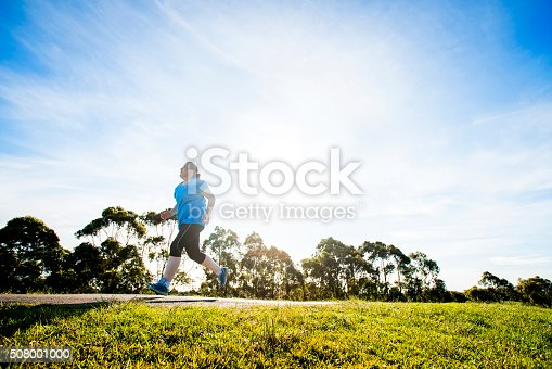 istock Overweight Woman Jogging 508001000