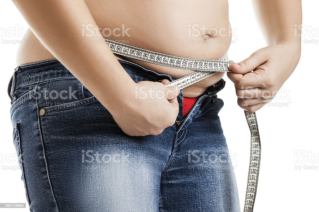 Overweight woman stock photo