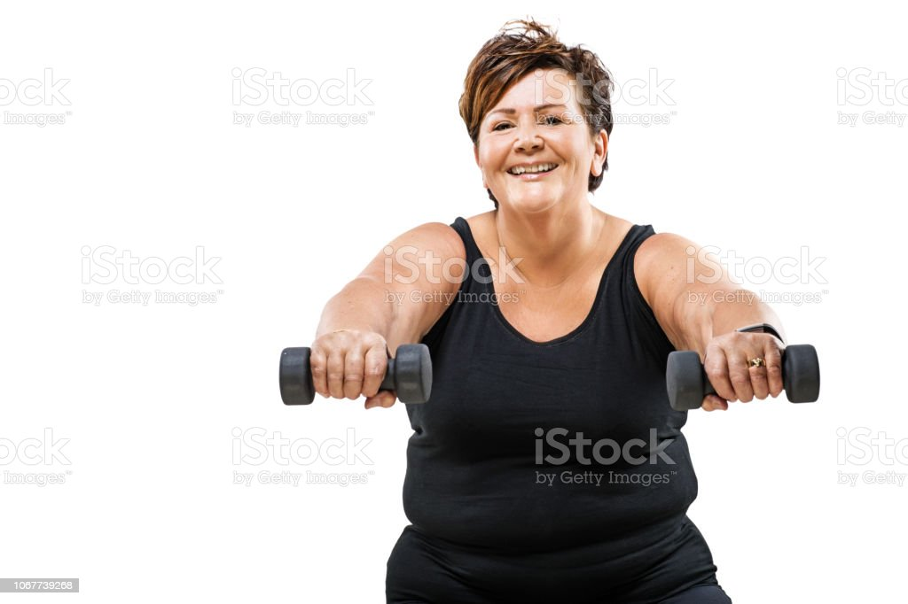 Overweight Woman Working Out Stock Photo Download Image Now Istock