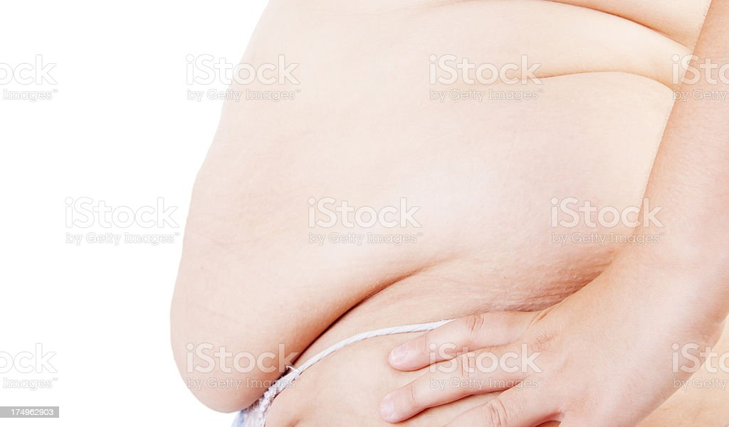 overweight Women's belly stock photo