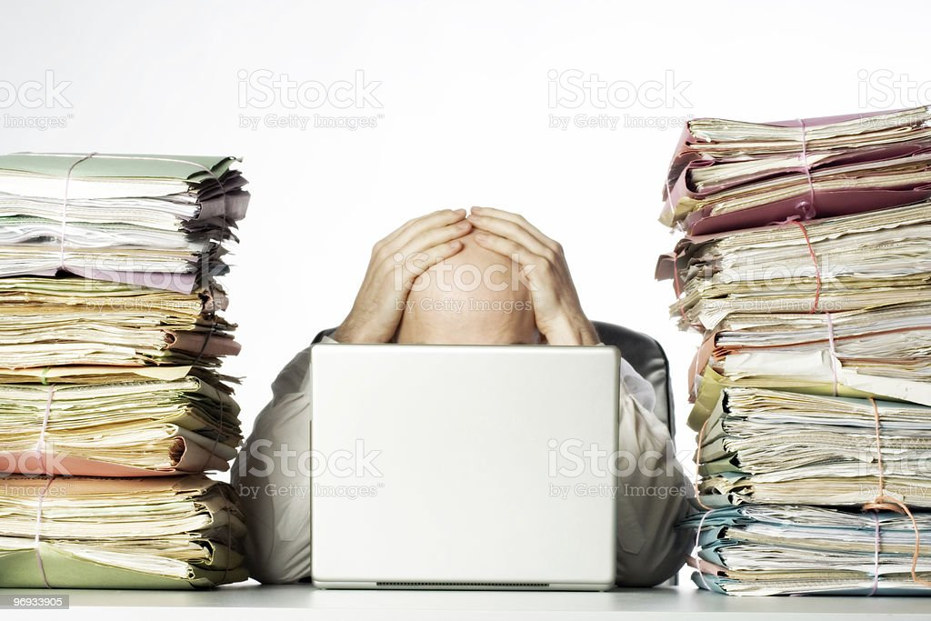 Overwhelmed stock photo
