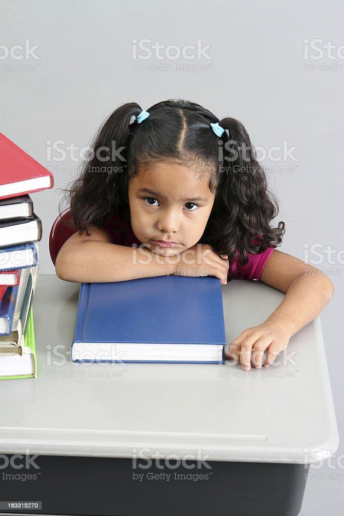 Overwhelmed Preschool Girl stock photo