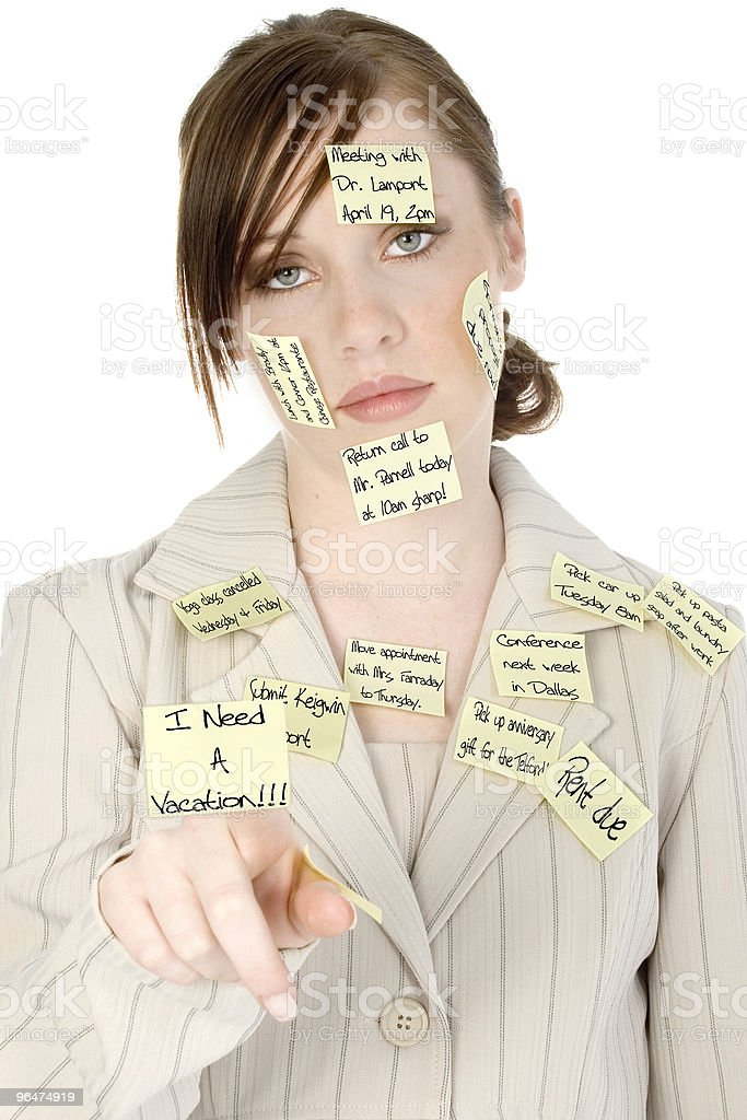Overwhelmed Young Woman royalty-free stock photo