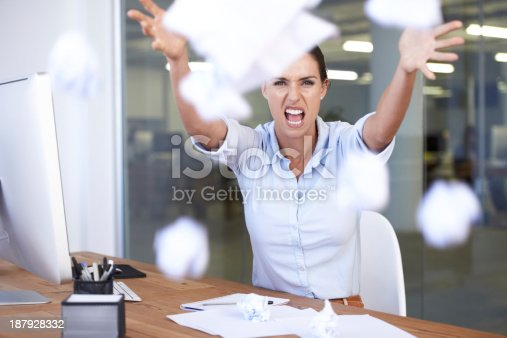istock Overworked and stressed! 187928332