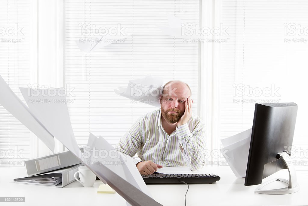 Overworked and Tired Businessman royalty-free stock photo