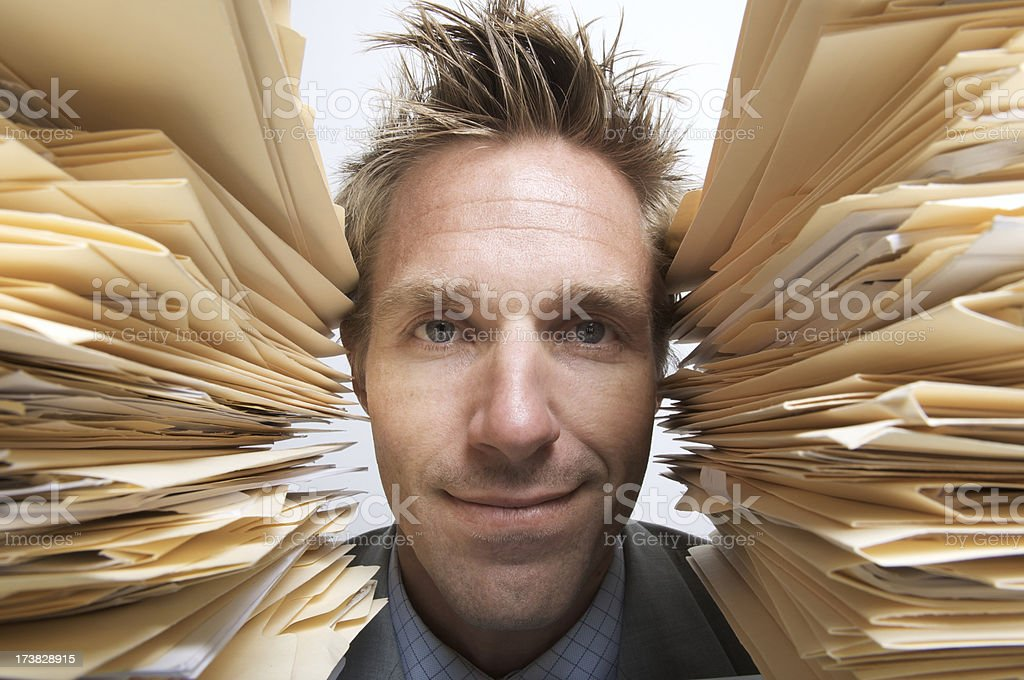 Overworked but Happy royalty-free stock photo