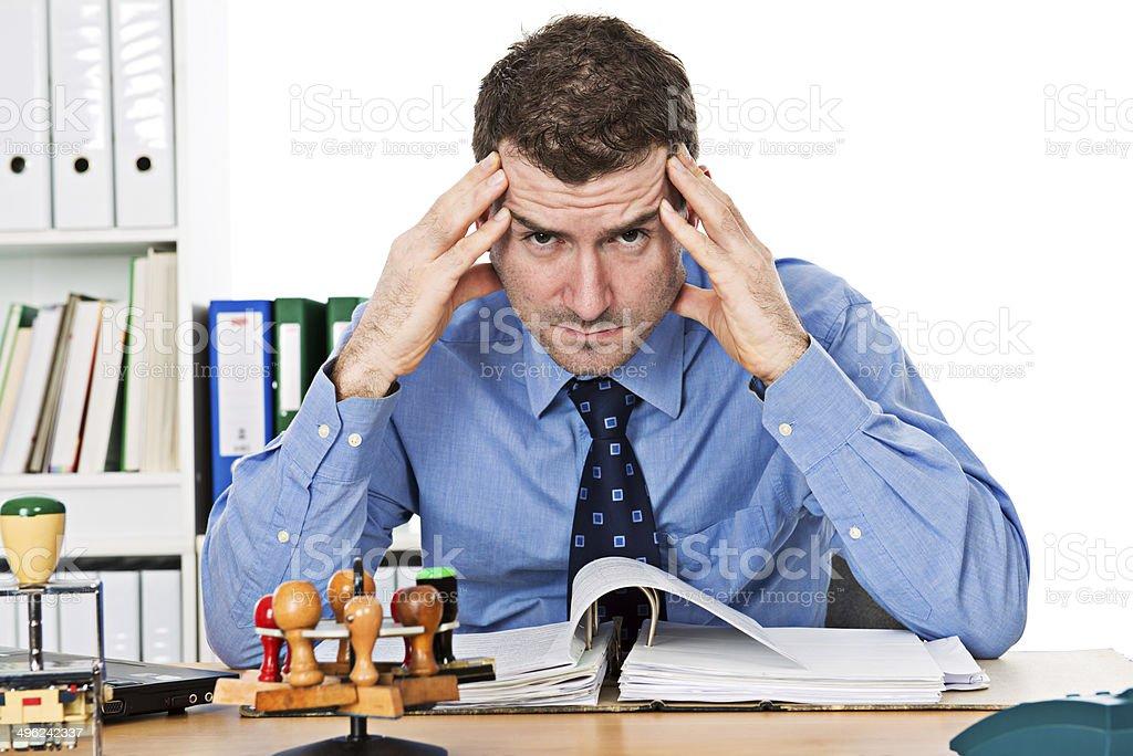 overworked stock photo
