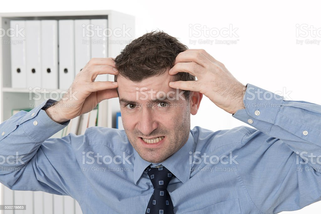 over-worked stock photo