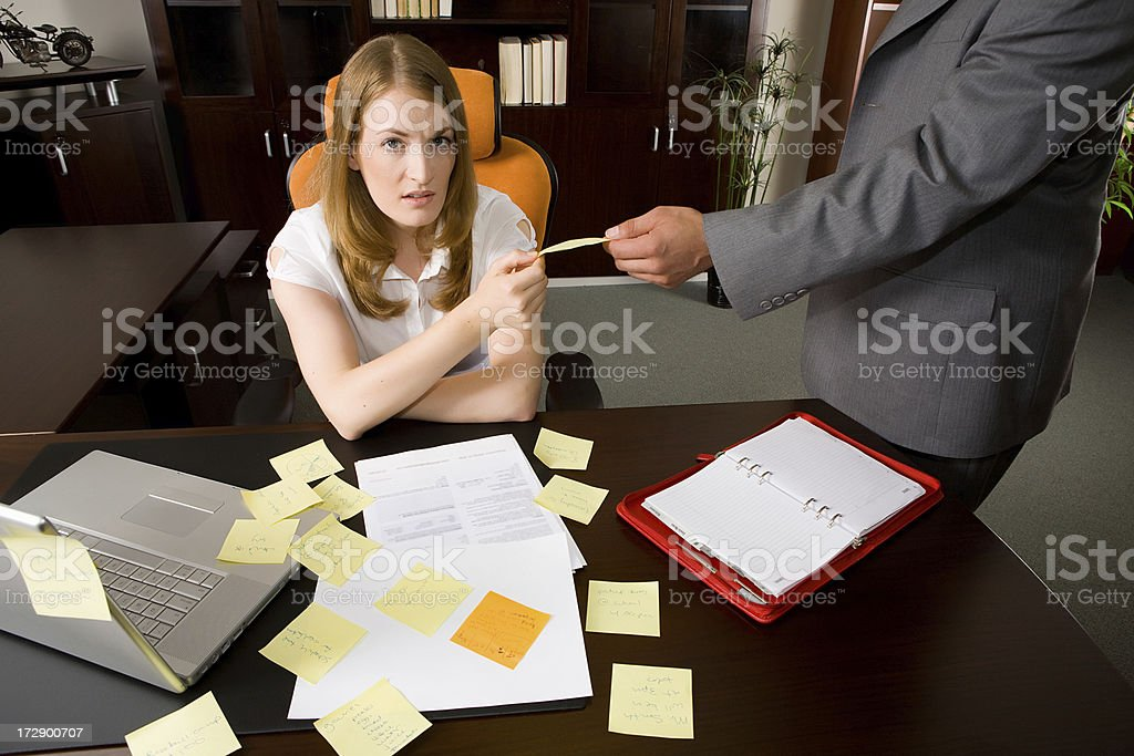 Overworked woman royalty-free stock photo