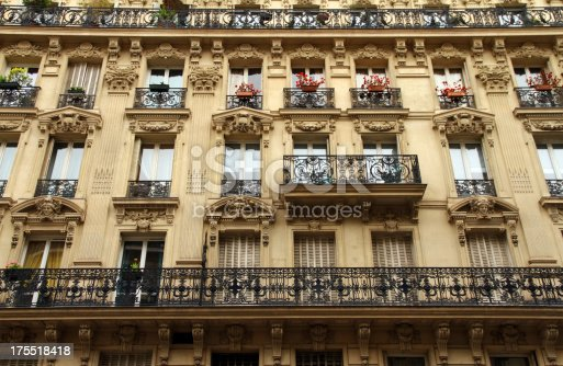 An elaborate wall in Paris