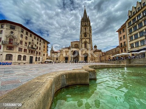 istock Oviedo cathedral 1253068709