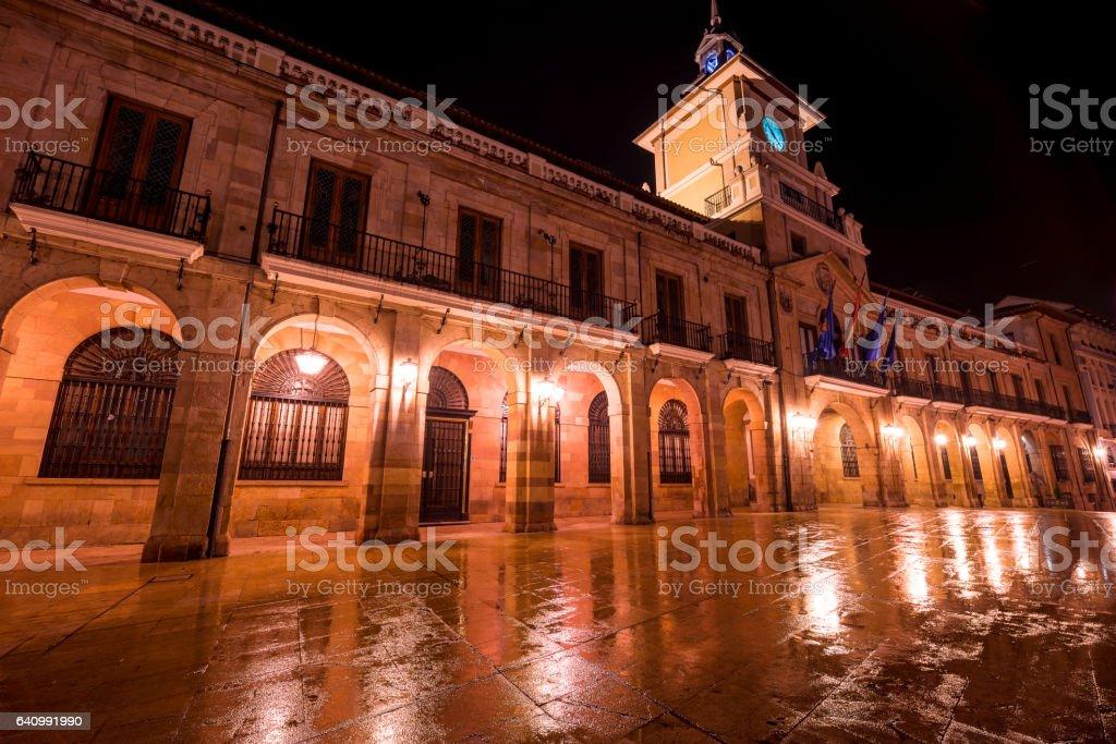 Oviedo city hall stock photo