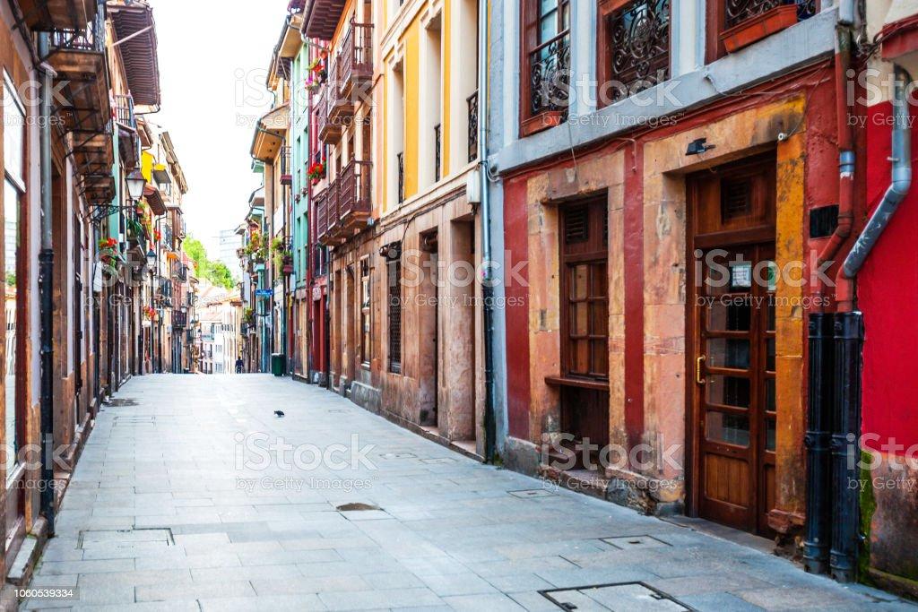 Oviedo old town -  Asturias, Spain stock photo