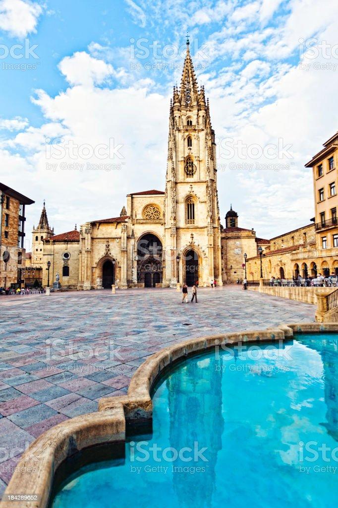 Oviedo old town. stock photo