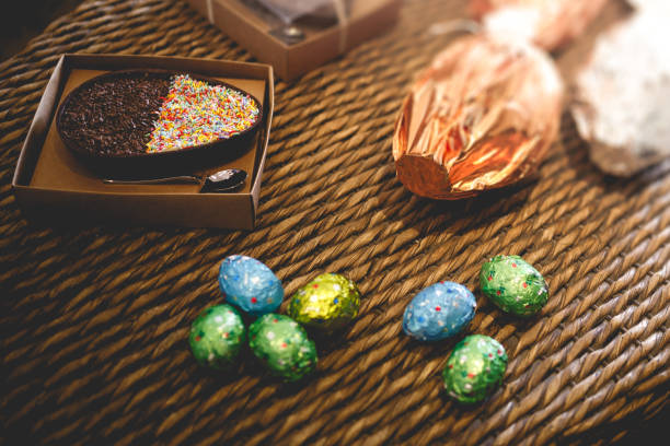 Ovos de páscoa stock photo