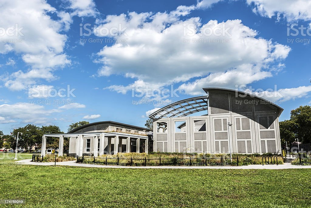 Owens Park Fieldhouse, Calumet Heights, Chicago royalty-free stock photo