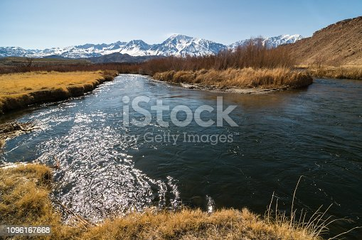 Owens river in Inyo County, California