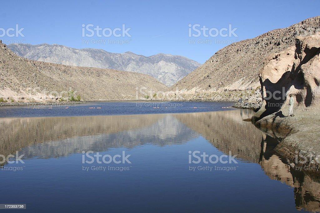 Owens Valley Lake Fishing royalty-free stock photo