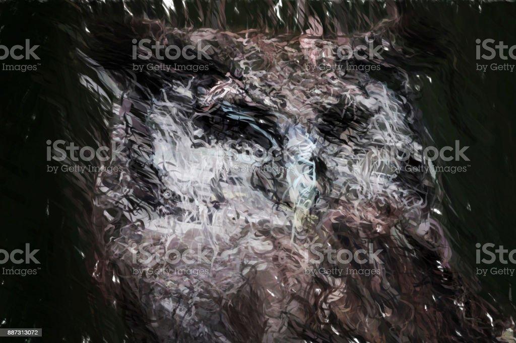 Baykuş Gece Dijital Boyama Stok Fotoğraflar Akrilik Boyamanin