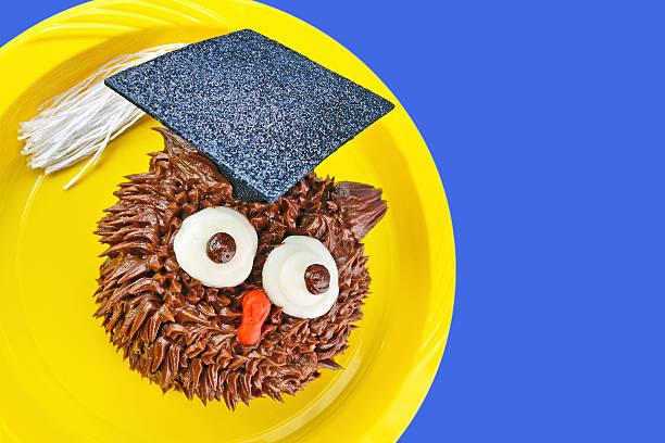 Owl Cupcake Looks to Side stock photo