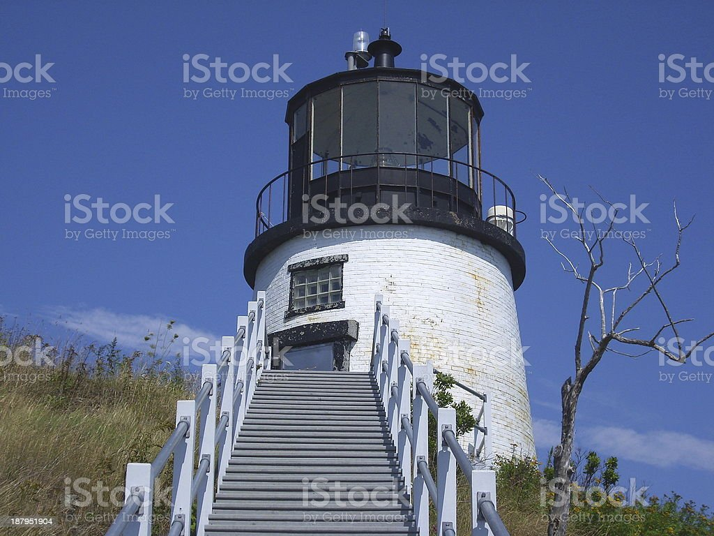 Owl Head Lighthouse stock photo