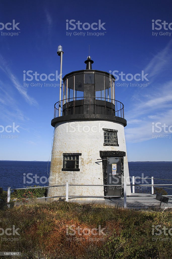 Owl's Head Light stock photo