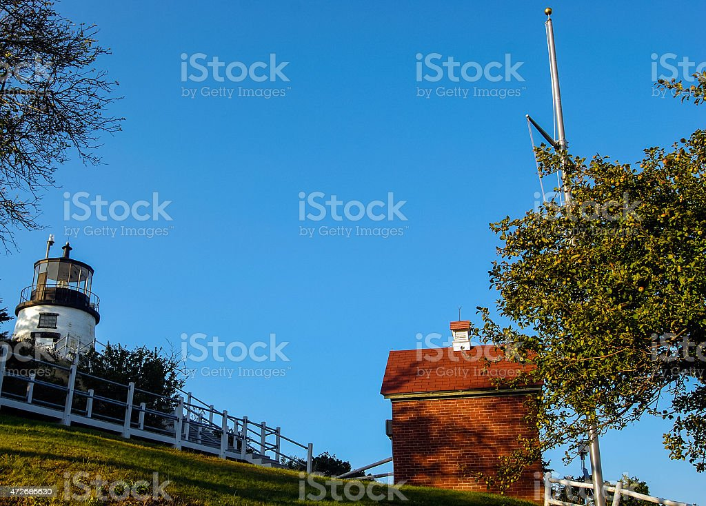 Owls Head Lighthouse, Maine stock photo