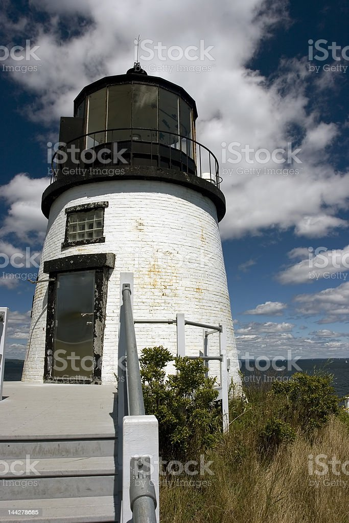 Owl's Head Lighthouse stock photo