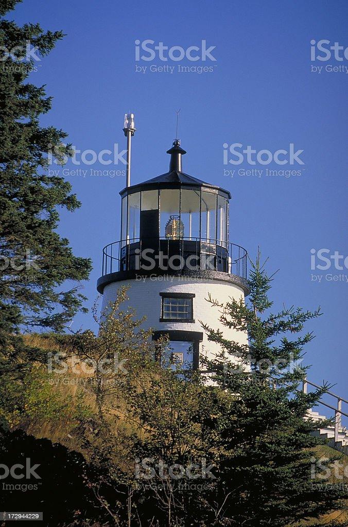 Owl's Head Lighthouse stock photo