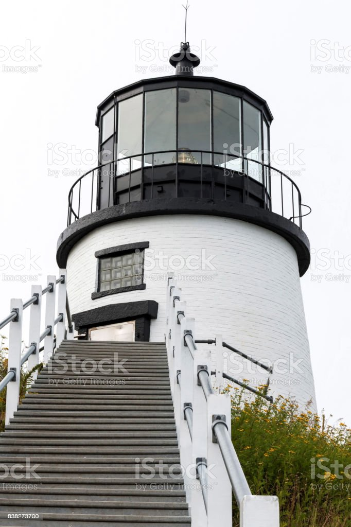 Owls Head Lighthouse stock photo