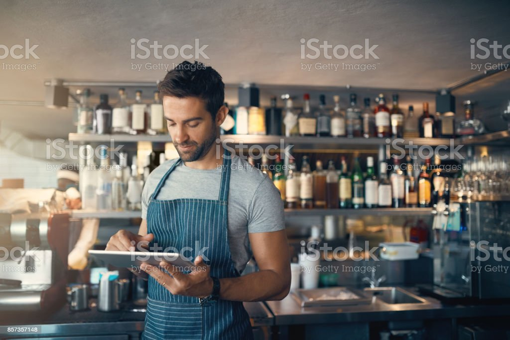 Own a bar? There's an app for that stock photo
