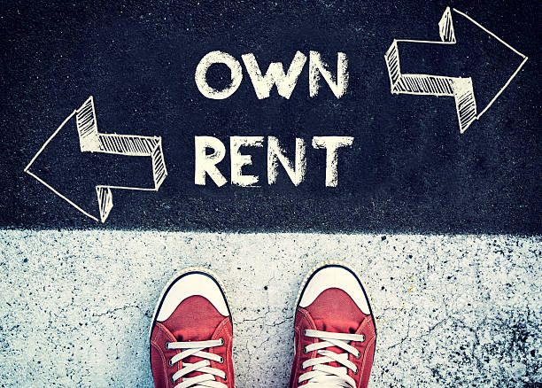 Own and rent stock photo