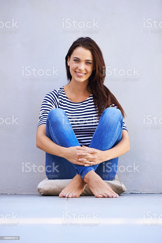 I own my casual style stock photo