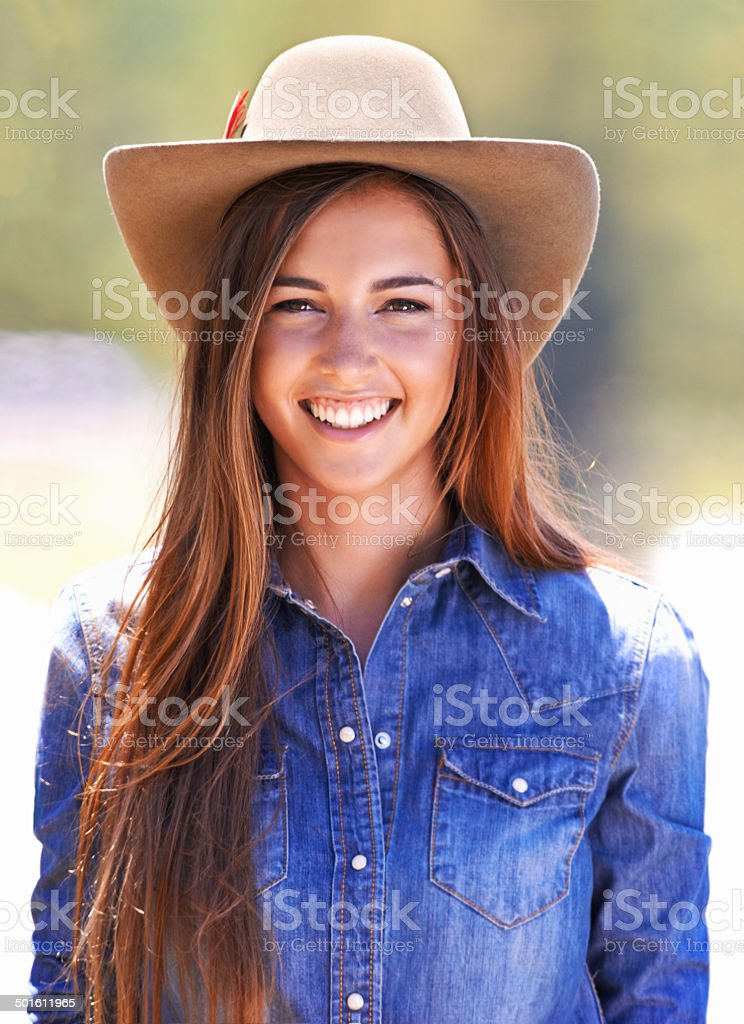 Owning the cowgirl look! royalty-free stock photo