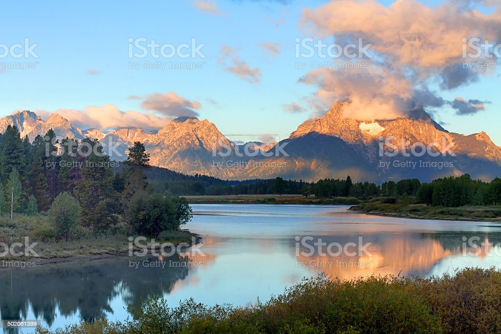 Oxbow Bend at the Grand Tetons royalty-free stock photo