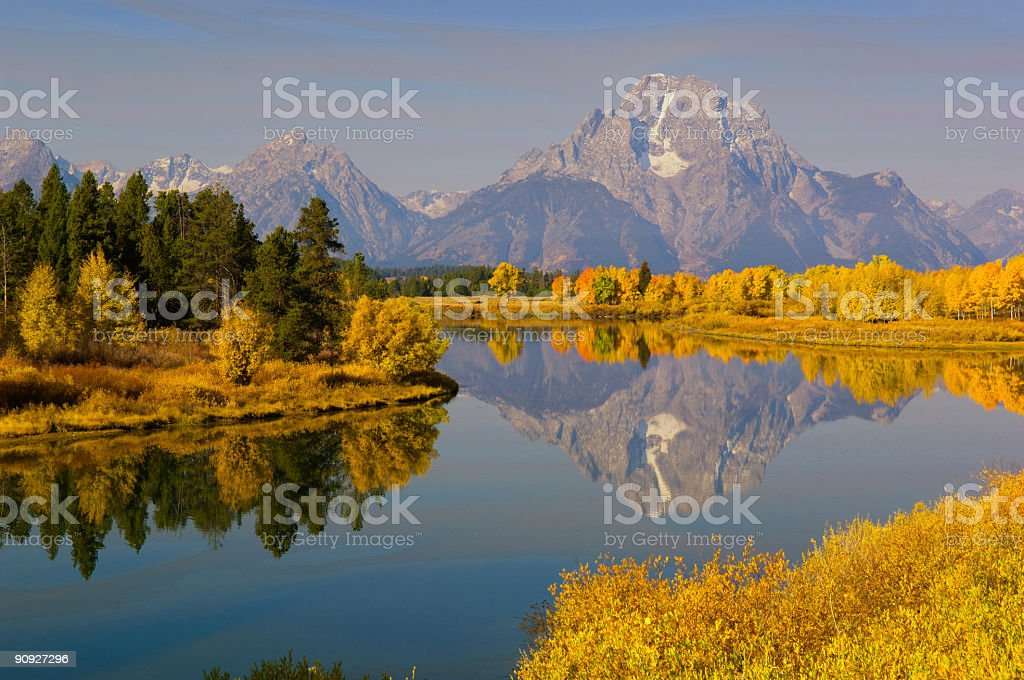 Oxbow Bend, Grand Teton National Park royalty-free stock photo