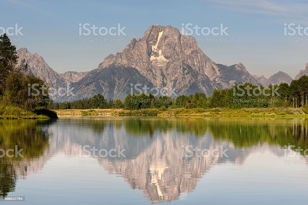 Oxbow Bend Grand Teton National Park Wyoming photo libre de droits