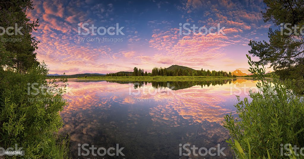 Oxbow Bend Panorama royalty-free stock photo
