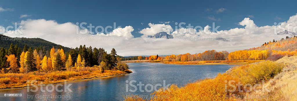 Oxbow Bend Yellowstone stock photo