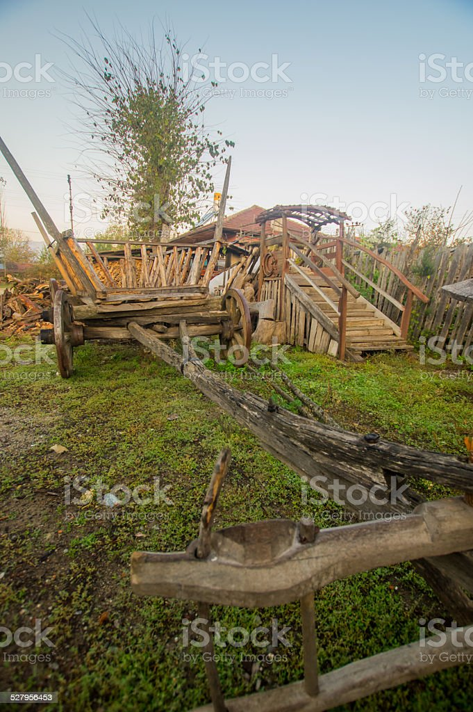 ox-cart stock photo