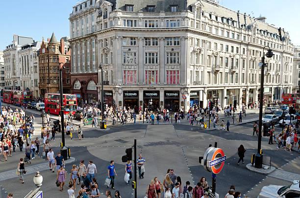 Oxford Circus, London shopping district – Foto