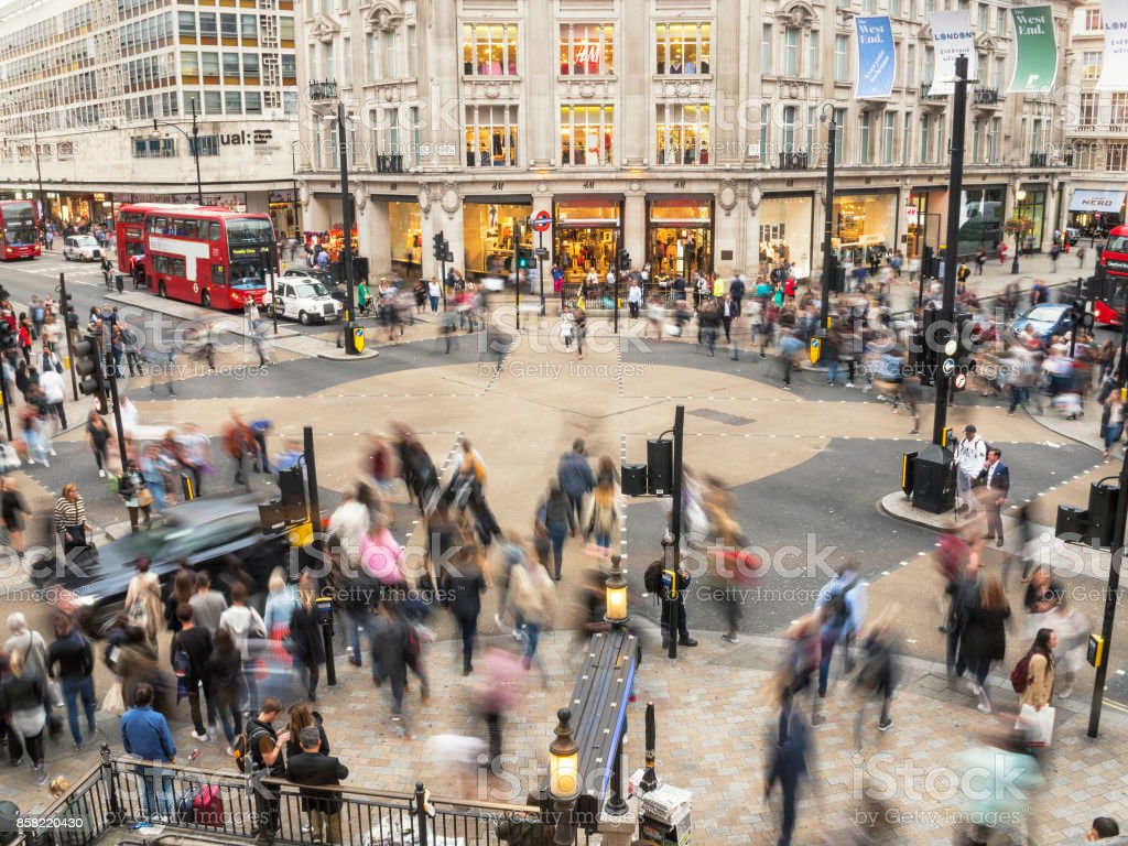 Oxford Circus crossing London stock photo