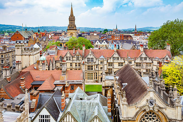 Oxford city. England stock photo