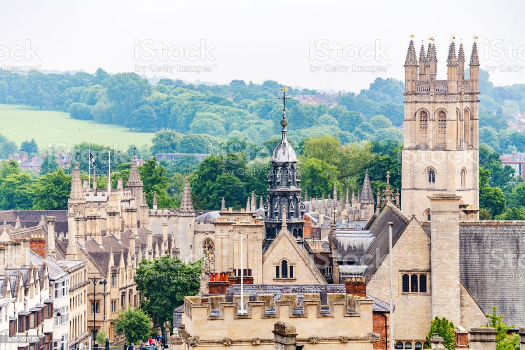 Oxford cityscape. England royalty-free stock photo