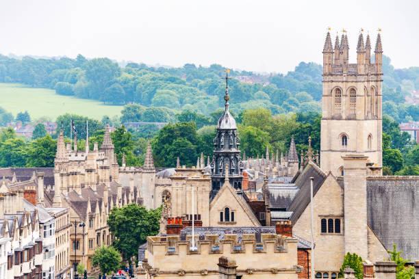 Oxford cityscape. England stock photo