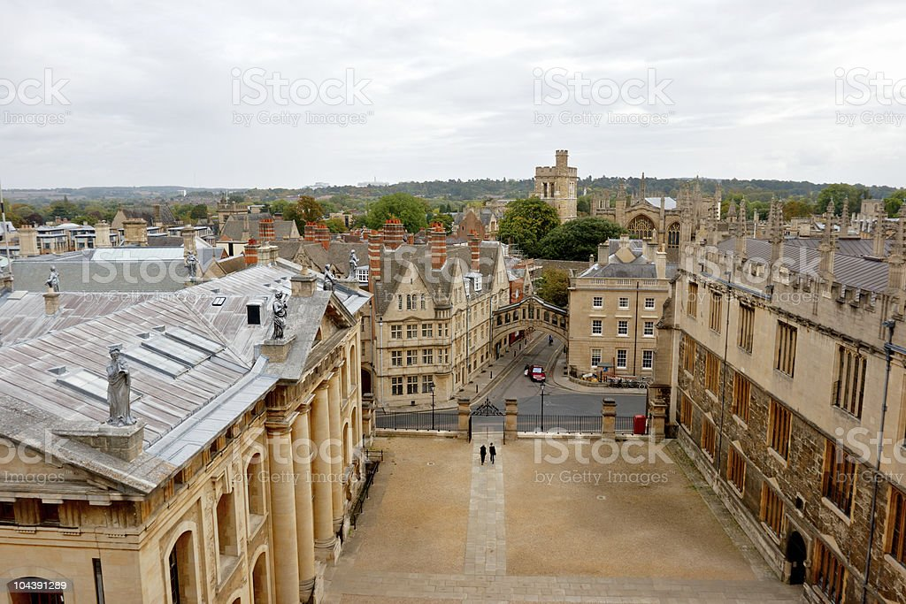 Oxford from above. Oxfordshire, England royalty-free stock photo