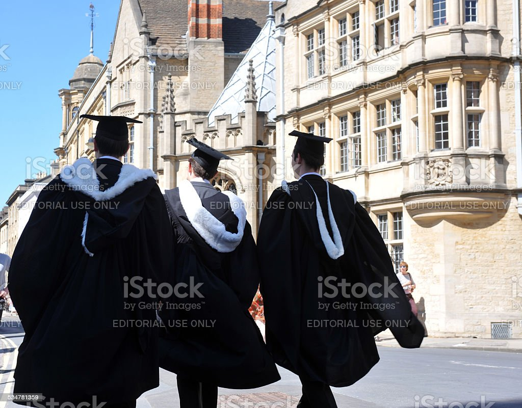 Oxford Graduation stock photo