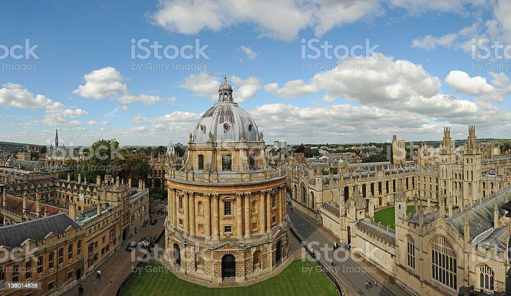Oxford pamorama stock photo